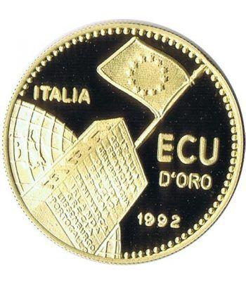 Moneda de oro Ecu d'ORO Italia 1992 35 Años CEE.  - 1
