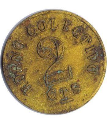 Moneda 2 Centimos Horno Colectivo.  - 1