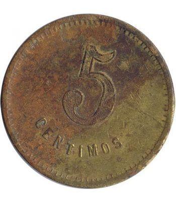 Moneda 5 Centimos Union Cooperatista El Reloj y La Dignidad.  - 1