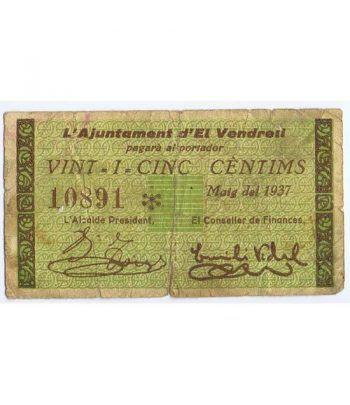 (1937) 25 centims Ajuntament d' El Vendrell. Mayo 1937  - 4