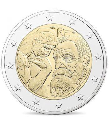 moneda conmemorativa 2 euros Francia 2017 Rodin.  - 2