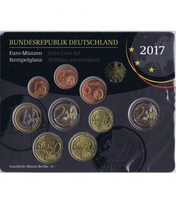 Cartera oficial euroset Alemania 2017 (5 cecas).  - 1