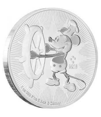 Moneda onza de plata 2$ Niue Mickey Mouse 2017.  - 1