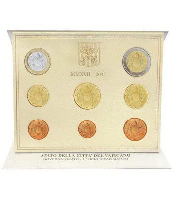 Cartera oficial euroset Vaticano 2017 escudo Papa Francisco.  - 1