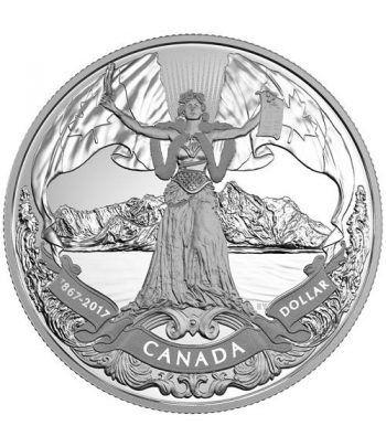 Canada 1$ 2017 150 Aniversario de Canada. Plata Proof.  - 1