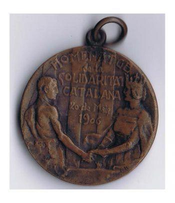 Medalla Homenatge de la Solidaritat Catalana Maig 1906  - 1