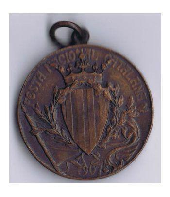 Medalla Festa Nacional Catalana 1907.  - 1