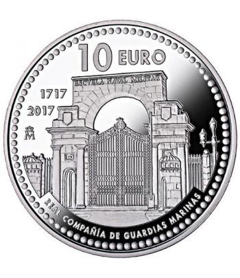 Moneda 2017 300 Años Compañia Guardias Marinas. 10 euros Plata.  - 1