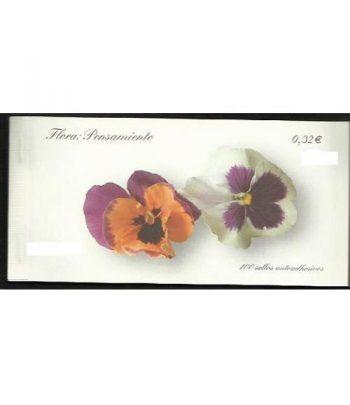 4465C Fauna y Flora 2009 PENSAMIENTO (carnet de 100 sellos)  - 2