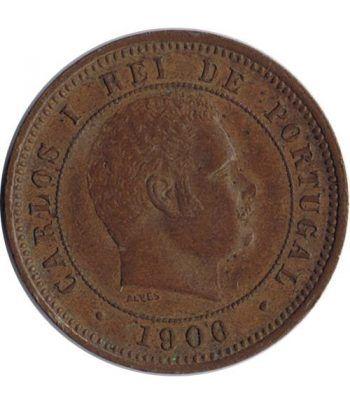 Portugal 5 Reis 1906 Carlos I. Bronce.  - 2