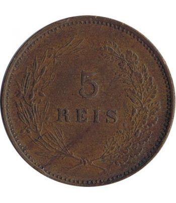 Portugal 5 Reis 1906 Carlos I. Bronce.  - 4