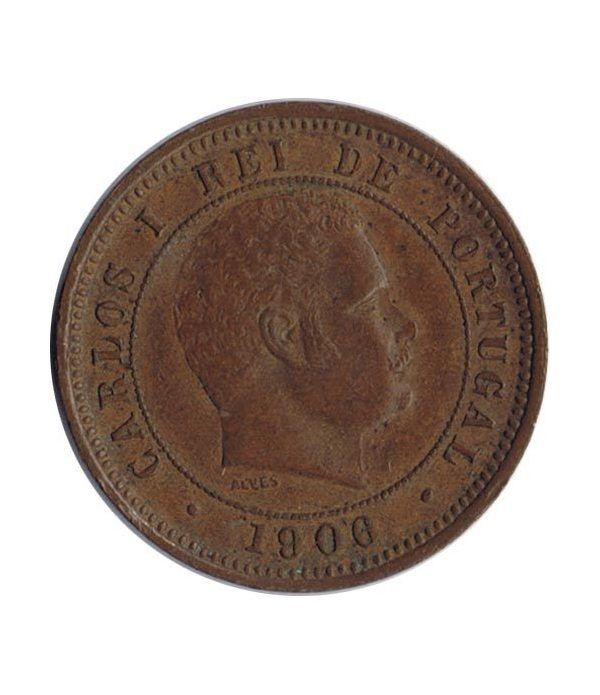 Portugal 5 Reis 1906 Carlos I. Bronce.  - 1