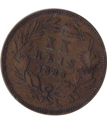 Portugal 20 Reis 1883 Luis I. Bronce.  - 1