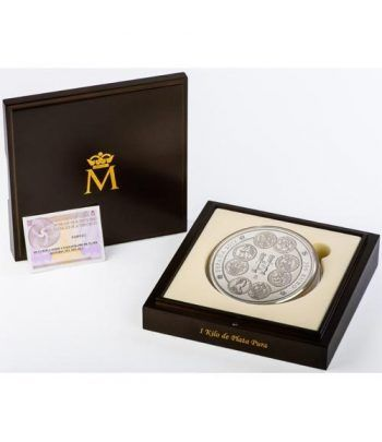 Moneda 2017 Historia del Dolar 1 kilo de plata. 300 euros.  - 1
