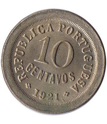 Portugal 10 Centavos 1921 Republica Portuguesa. Cuproniquel.  - 2