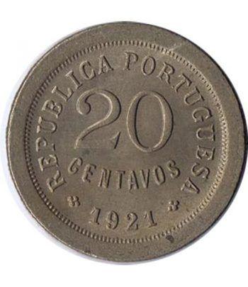 Portugal 20 Centavos 1921 Republica Portuguesa. Cuproniquel.  - 1