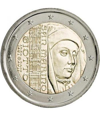 moneda conmemorativa 2 euros San Marino 2017 Giotto.  - 1