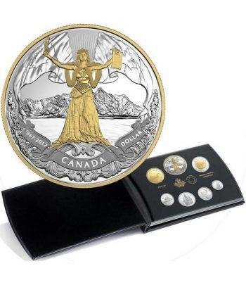 Monedas de plata Canada set prestige 150 Años Canadá 2017  - 2