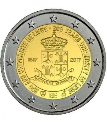 moneda conmemorativa 2 euros Belgica 2017 Universidad Lieja.  - 1