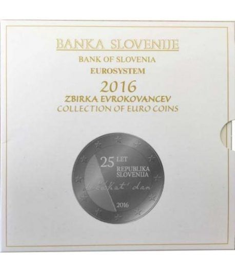 Cartera oficial euroset Eslovenia 2016. Incluye 2 y 3 euros  - 2