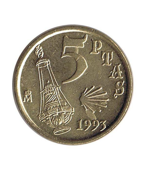 5 Pesetas 1993 Jacobeo. Variante de cuño. SC  - 1
