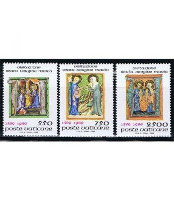 Vaticano 0849/51 Fiesta de la Visitación 1989  - 2