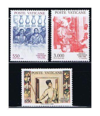 Vaticano 0840/42 Paolo Caliari 1988.  - 2