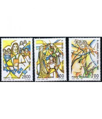 Vaticano 0872/74 450 años muerte Angela Merici 1990.  - 2