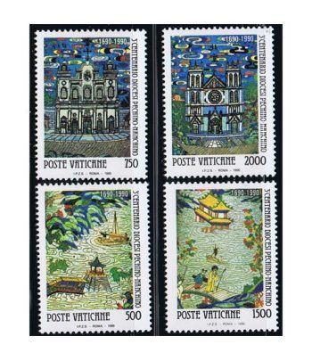 Vaticano 0882/85 Diocesis Pekin-Nankin 1990.  - 2