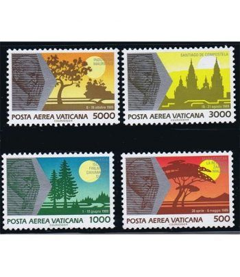 Vaticano Aereo 088/91 Viajes de Juan Pablo II (IV) 1990.  - 2