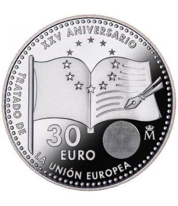 Moneda conmemorativa 30 Euros 2017 25 Años Unión Europea.  - 1