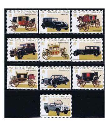 Vaticano 1059/68 Carrozas y automoviles pontificios 1997.  - 2
