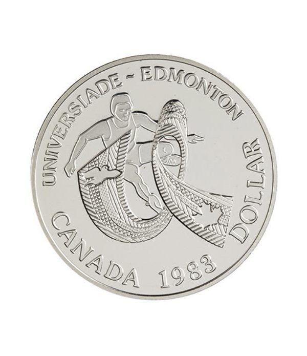 Canada 1$ 1983 Universiada Edmonton. Plata Proof.  - 1