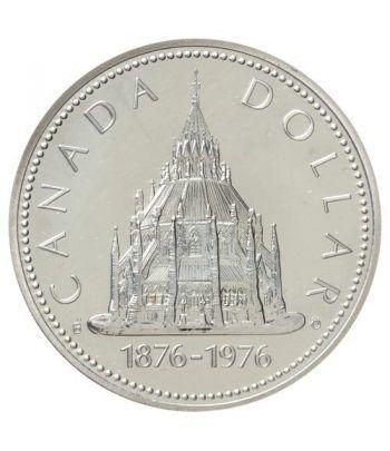 Canada 1$ 1976 Centenario Biblioteca Otawa. Plata.  - 1