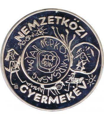 Moneda de plata 200 Forint Hungria 1979 Año Niño.  - 1