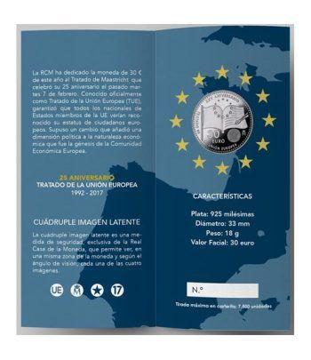 Cartera oficial euroset 30 Euros 2017 25 Años Unión Europea.  - 1