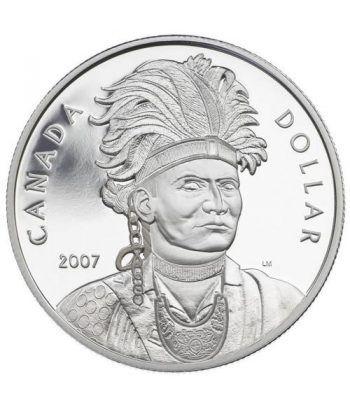 Moneda de plata 1 Dollar Canada 2007 Thayendanegea. Proof.  - 1