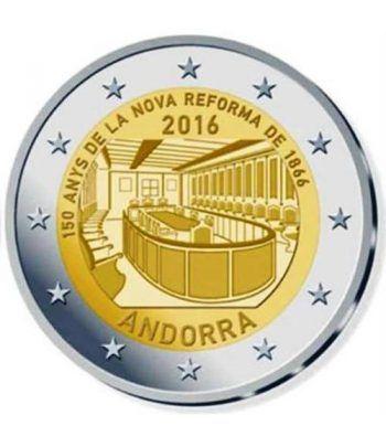 moneda conmemorativa 2 euros Andorra 2016 Reforma 1866. BU.  - 1