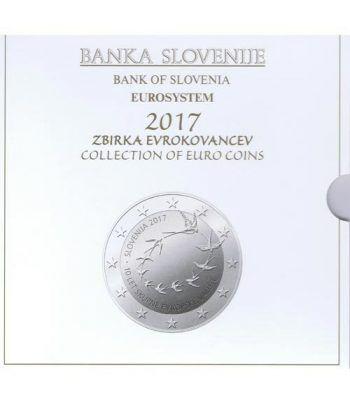 Cartera oficial euroset Eslovenia 2017. Incluye 2 y 3 euros  - 2