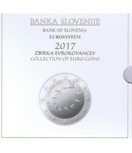 Cartera oficial euroset Eslovenia 2017. Incluye 2 y 3 euros  - 1