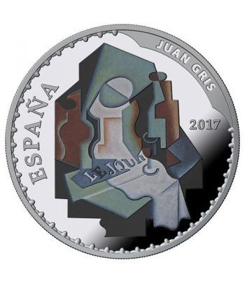 Moneda 2017 Tesoros Museos Españoles. Juan Gris. 10 euros. Plata  - 1