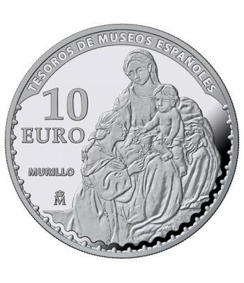 Moneda 2017 Tesoros Museos Españoles. Rubens. 10 euros. Plata  - 4