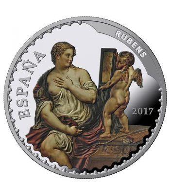 Moneda 2017 Tesoros Museos Españoles. Rubens. 10 euros. Plata  - 1