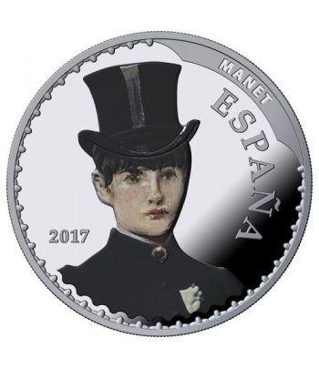 Moneda 2017 Tesoros Museos Españoles. Manet. 10 euros. Plata  - 1