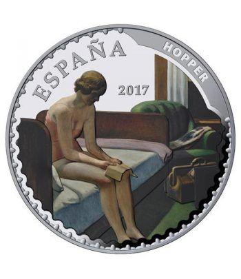 Moneda 2017 Tesoros Museos Españoles. Hopper. 50 euros. Plata  - 1