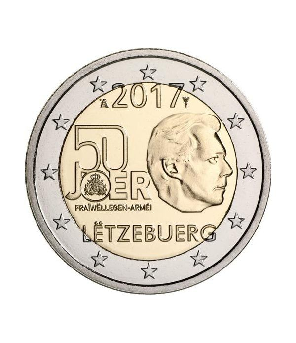 moneda conmemorativa 2 euros Luxemburgo 2017 Servicio Militar.  - 2
