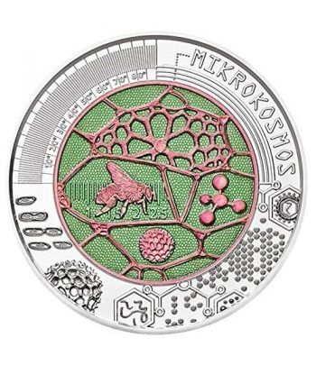 moneda Austria 25 Euros 2017 Mikrokosmos niobio-estuche.  - 1