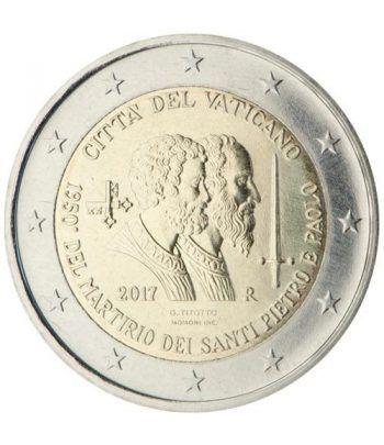 moneda conmemorativa 2 euros Vaticano 2017 San Pedro  - 2