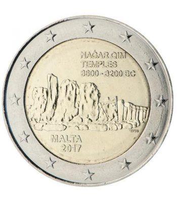 moneda conmemorativa 2 euros Malta 2017 Templos Hagar Qim  - 2