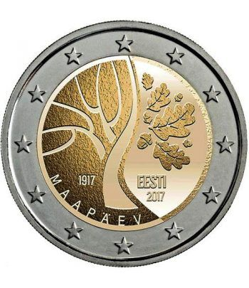 moneda conmemorativa 2 euros Estonia 2017 Independecia.  - 2